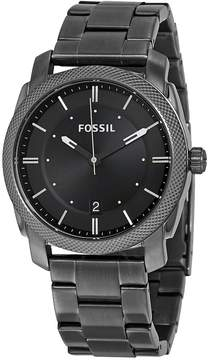 Fossil Machine Black Dial Smoke IP Stainless Steel Men's Watch