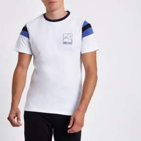 River Island Mens White 'Ninety eight' slim fit T-shirt