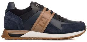 Fendi Blue/black/camel Leather Sneakers