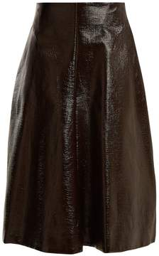 Jil Sander Ethic coated-cotton A-line skirt