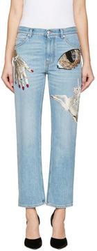 Alexander McQueen Indigo Obsession Jeans