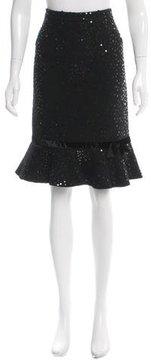 Andrew Gn Wool Sequin Skirt