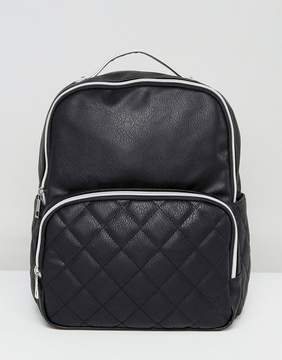 Liquorish Quilted Pocket Backpack
