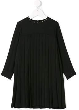 John Richmond Kids long-sleeved pleated dress