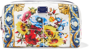 Dolce & Gabbana - Printed Twill Cosmetics Case - Yellow