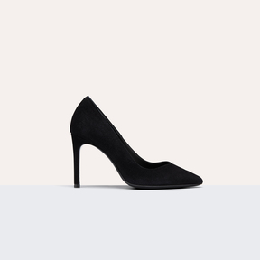Maje High-heeled suede court shoes