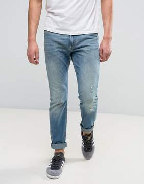 Lee Rider Stretch Slim Jeans Seatone Damage Wash