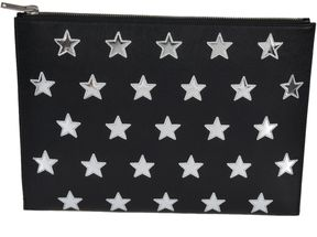 Saint Laurent Stars Tablet Clutch - BLACK - STYLE