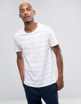 Pull&Bear T-Shirt In Pink And White Stripe
