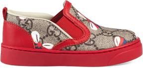 Gucci Toddler GG Sylvie bow sneaker