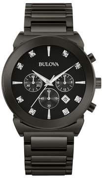 Bulova Men's Diamond Bracelet Watch - 0.04 ctw