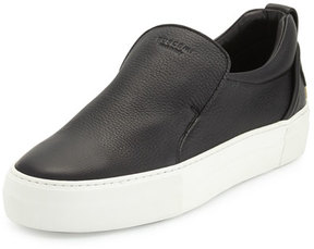 Buscemi 40mm Men's Leather Slip-On Sneaker, Black