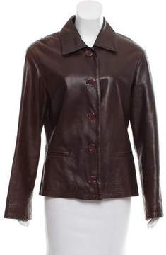 Barneys New York Barney's New York Leather Button-Up Jacket