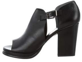 Robert Clergerie Clergerie Paris Leather Peep-Toe Pumps w/ Tags