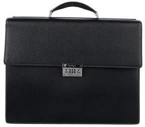 Salvatore Ferragamo Grain Leather Briefcase