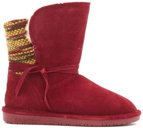 BearPaw Maggie Suede Sheepskin Boot with NeverWet