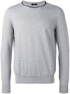 Fay neck contrast trim jumper