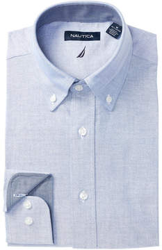 Nautica Heathered Regular Fit Dress Shirt