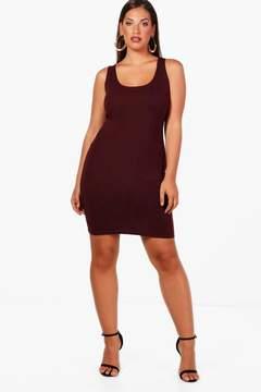boohoo Plus Jess Ponte Scoop Neck Bodycon Dress
