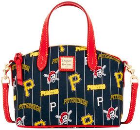 Dooney & Bourke Pittsburgh Pirates Nylon Mini Crossbody Satchel - BLACK/RED - STYLE