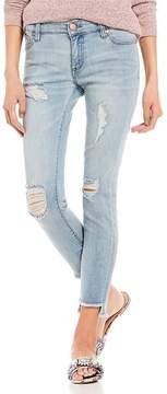 Celebrity Pink Recycled Destructed Step Hem Ankle Skinny Jeans