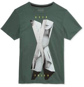 GUESS Mens Xposed Graphic T-Shirt Green 2XL