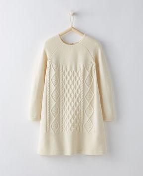 Hanna Andersson Cable Cozy Slipover Dress In Cotton & Merino