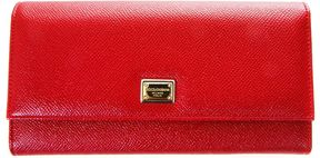 Dolce & Gabbana Dauphine Leather Wallet - RED - STYLE