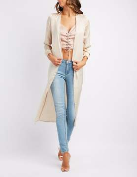 Charlotte Russe Satin Longline Duster
