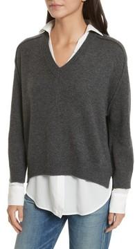 Brochu Walker Women's V-Neck Layered Pullover