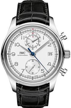 IWC IW390403 portugieser leather watch