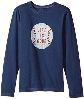 Life is Good Vintage Baseball Long Sleeve Crusher Tee Boy's T Shirt