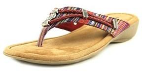 Minnetonka Silverthorne Women W Open Toe Leather Multi Color Thong Sandal.