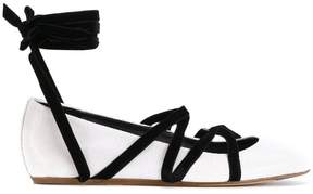 Lanvin strappy ballerina shoes