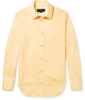 Balenciaga Slim-Fit Cotton-Poplin Western Shirt