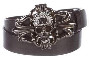 Philipp Plein Leather Skull Baroque Belt