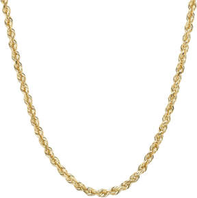 JCPenney FINE JEWELRY 14K Yellow Gold 2.5mm 16-24 Hollow Glitter Rope Chain