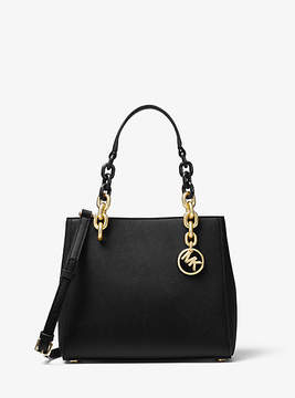 Michael Kors Cynthia Saffiano Leather Satchel - BLACK - STYLE