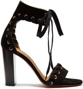 Chloé Miles lace-up suede sandals