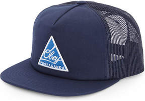 Obey New Federation cotton-blend trucker cap