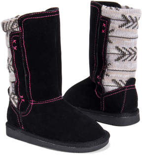 Muk Luks Black Stacy Boot - Kids