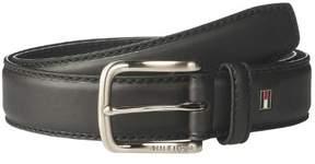 Tommy Hilfiger Casual Handcrafted Genuine Leather Belt Black Size 40