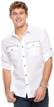Rock & Republic Men's Button-Front Roll-Tab Shirt