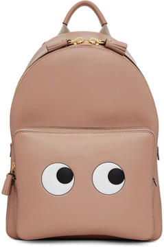 Anya Hindmarch Pink Mini Eyes Right Backpack