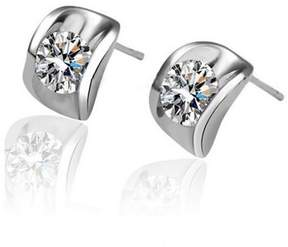 Alpha A A Designer Inspired Cuff Earrings with Centred CZ