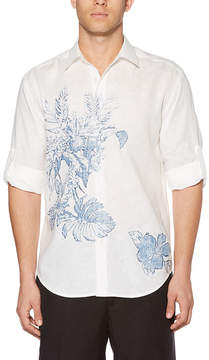 Cubavera Long Sleeve Floral Button-Front Shirt