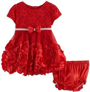 Nannette Baby Girl Rosette & Lace Dress