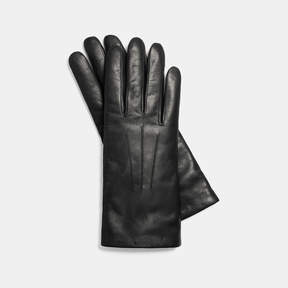 Coach Short Leather Gloves