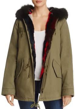 Aqua Multi-Color Fur Reversible Anorak Jacket - 100% Exclusive