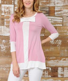 Celeste pink and white bow tunic - Women